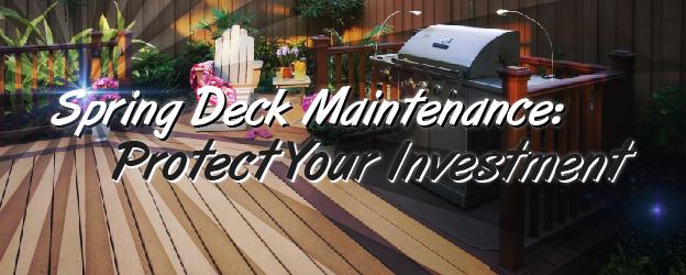 Spring Deck Maintenance